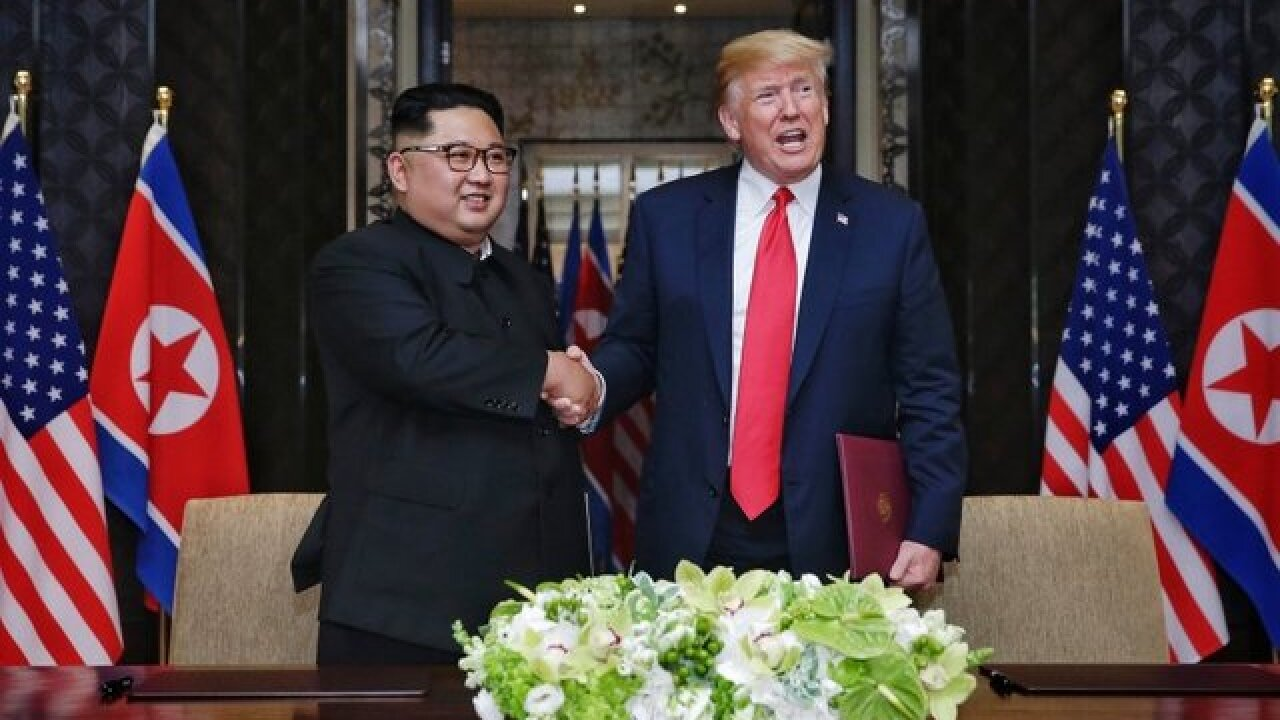 North Korea state media airs unseen video from Trump-Kim summit
