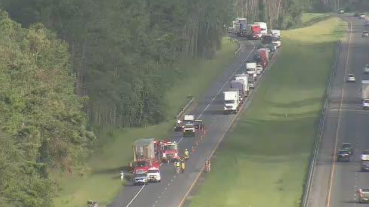 Vehicle fire blocking all lanes on I-10 EB in Gadsden County