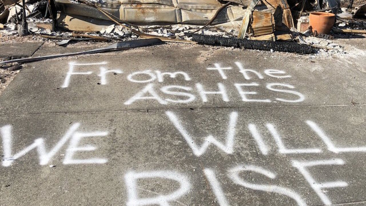 Ravaged by wildfire, Ca. neighborhood regroup