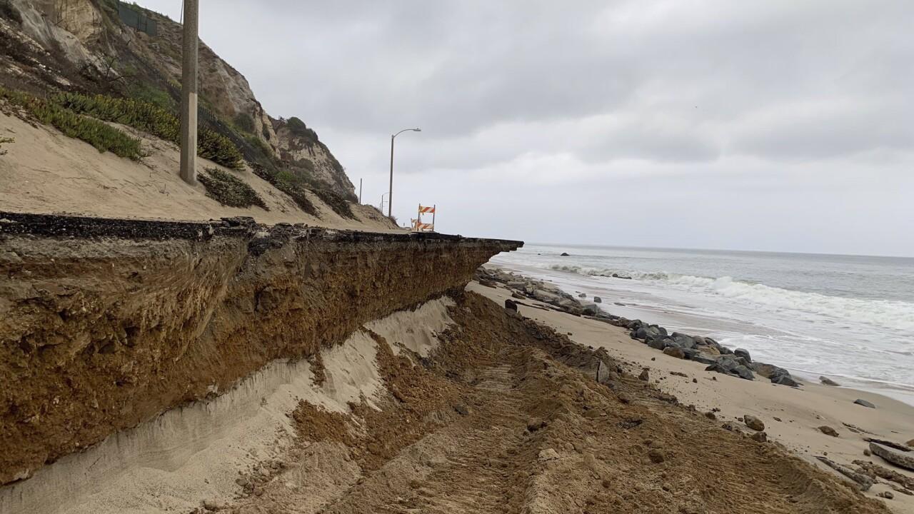 Malibu road collapse