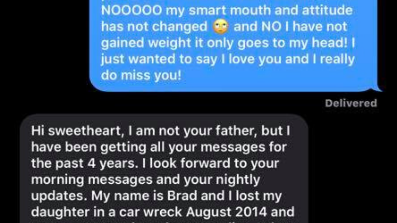 A woman continued to text her father's phone after he passed gets response 4 years later