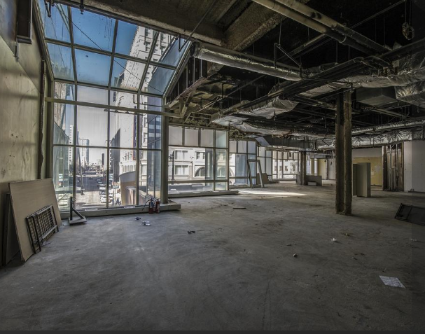 Grand Avenue Mall is being demolished from the inside.