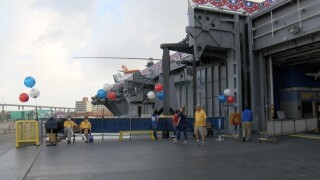 The U.S. S. Lexington Museum reopened on Friday