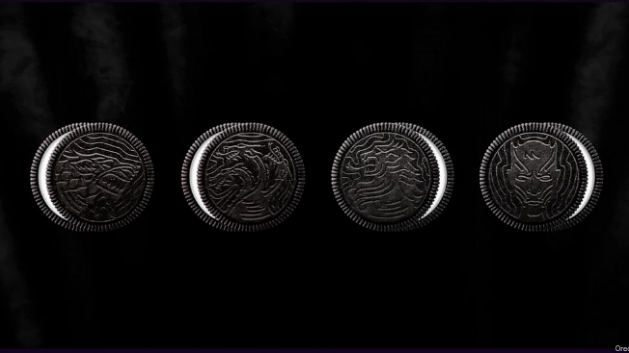 Here are all four Game Of Thrones Oreo cookies