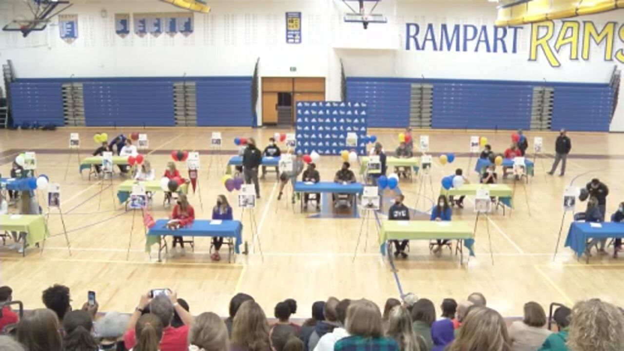 24 Rams sign to compete at the college level