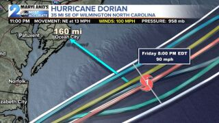 Hurricane Dorian Stays Off The COAST