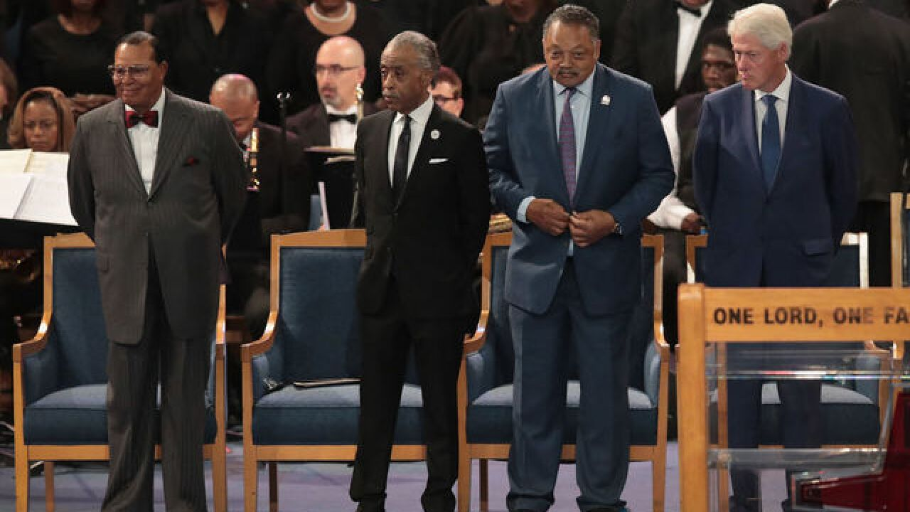 Photo gallery: Celebrities, dignitaries fill Aretha Franklin's funeral