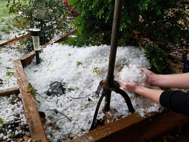 PHOTOS: Hail storm moves through Green Country on Tuesday