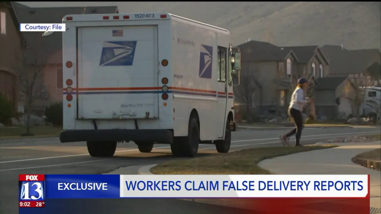 Postal workers claim USPS managers force them to falsify package deliveries