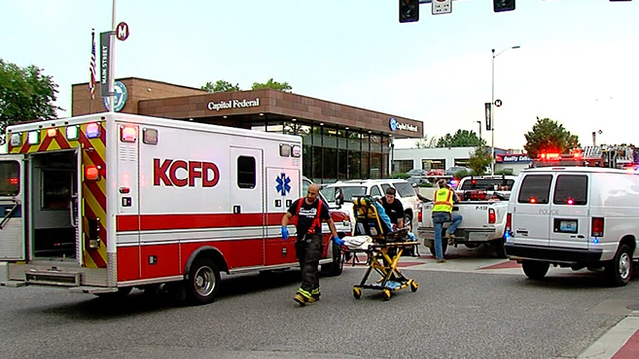 An SUV in critically injured a pedestrian in midtown Kansas City