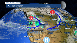 Cooler this weekend with off-and-on showers and mountain snow
