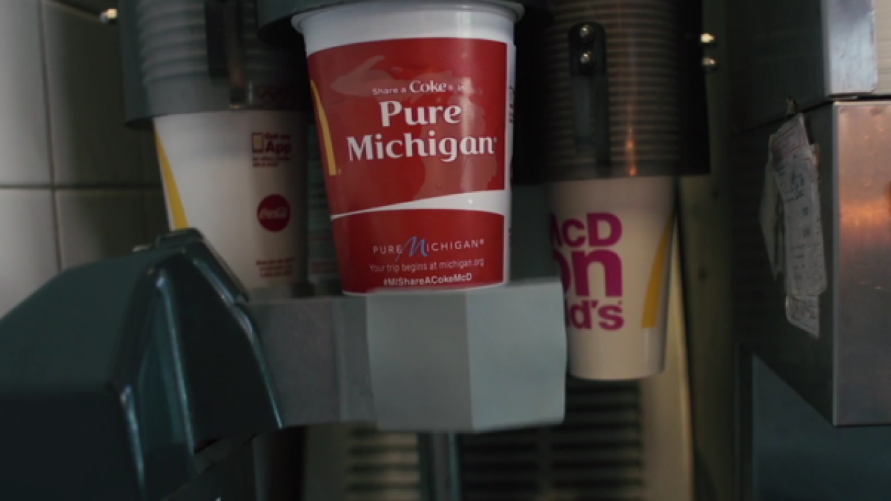 Snag Michigan-themed Coke cups at McDonald's