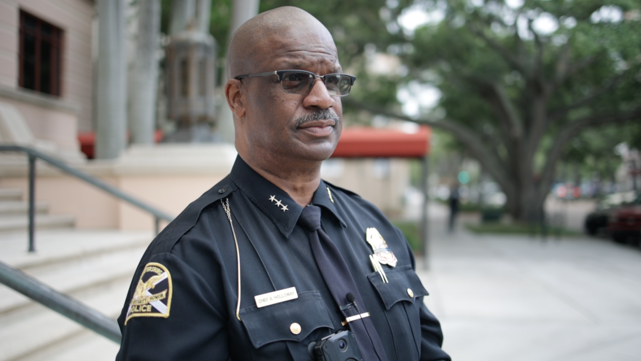 St. Petersburg Police Chief Anthony Holloway.