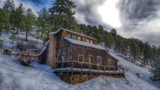 Snowy scene in Ward, Colorado