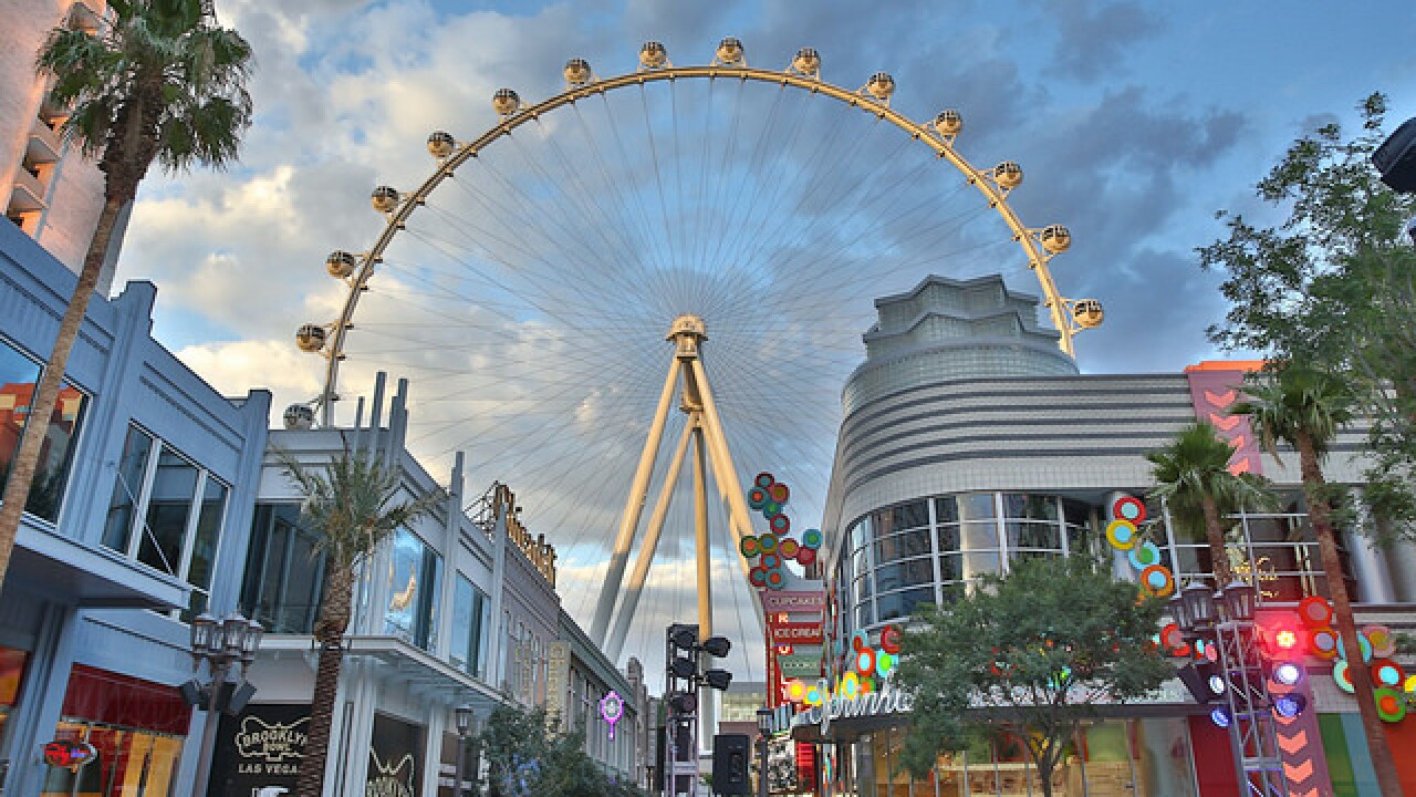 High Roller going blue for Las Vegas police