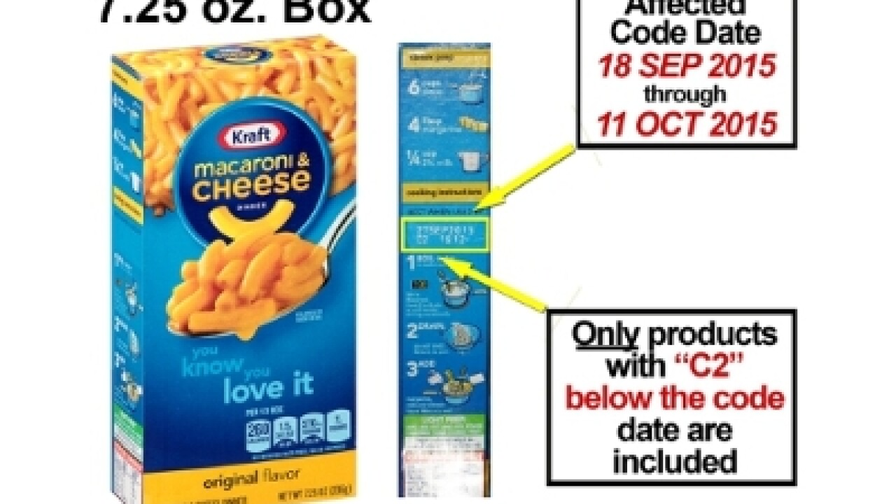 Kraft recalls 250K cases of macaroni & cheese due to possible metal pieces