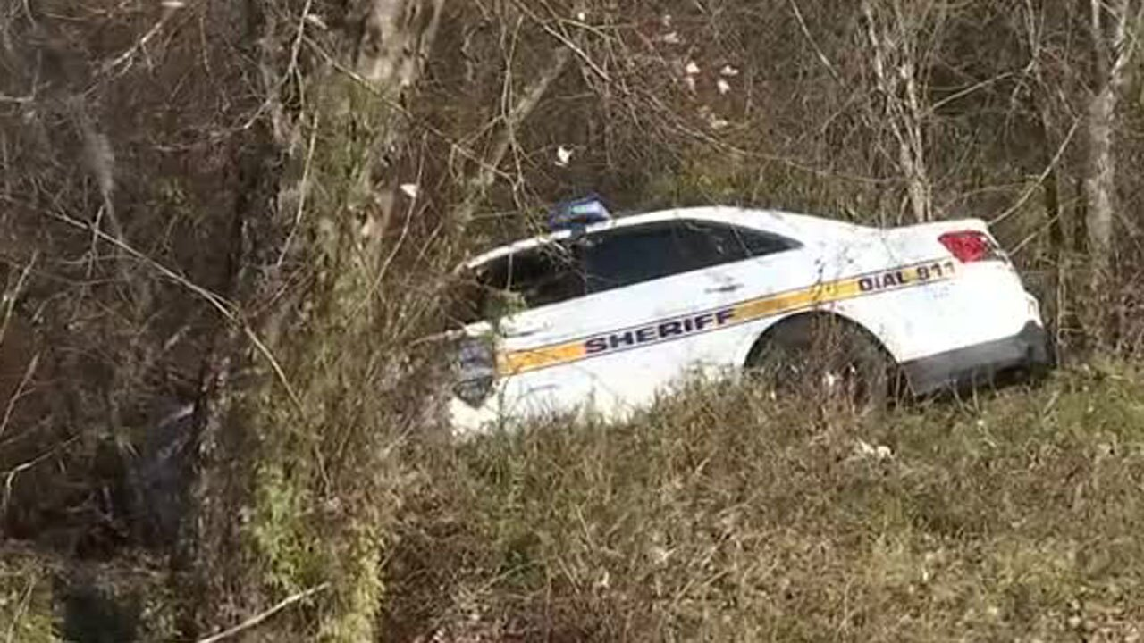 Jacksonville Sheriff's Office crashed patrol car