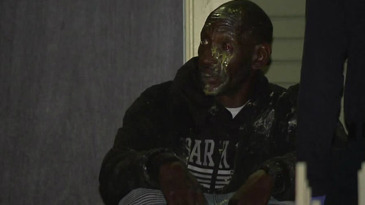 Man taken to hospital after being shot by paintball gun