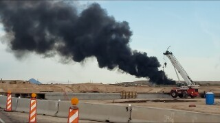 Tire fire in West Valley