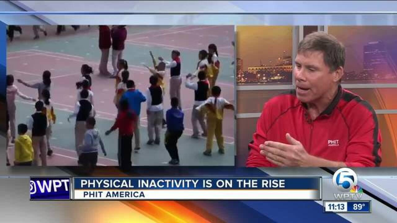 Physical inactivity on the rise in America
