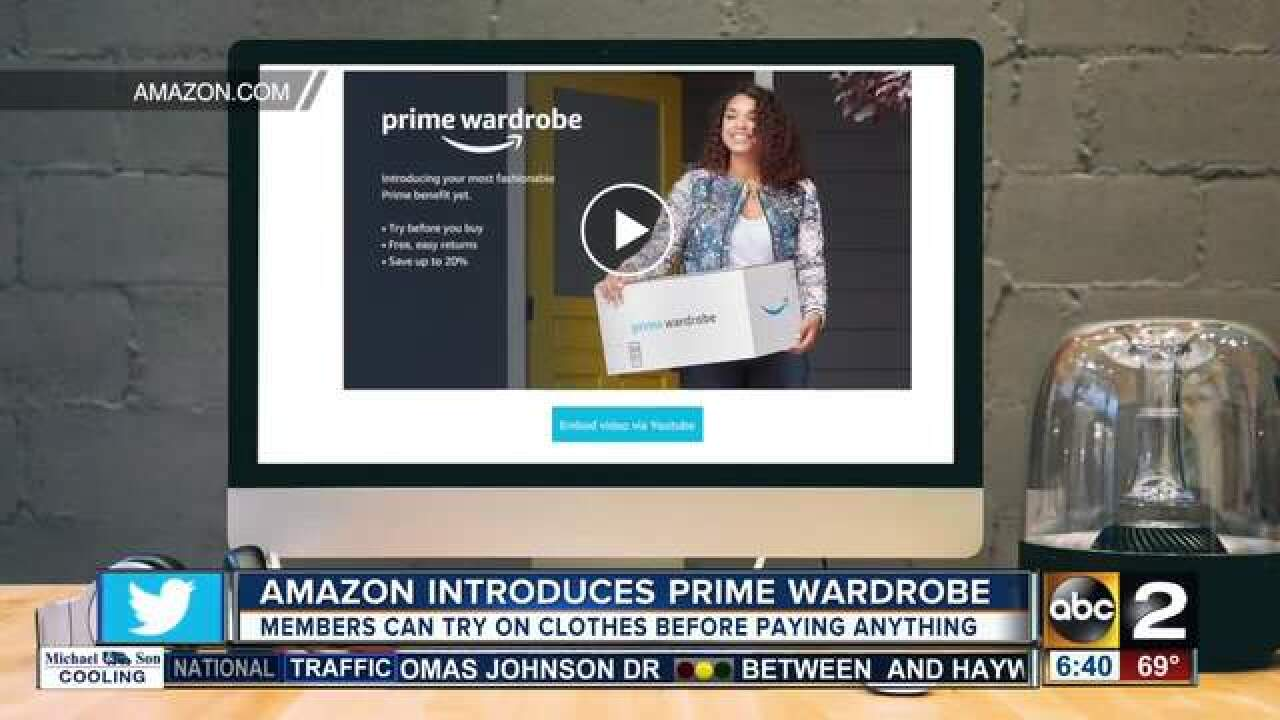 Try clothes before you buy with Amazon