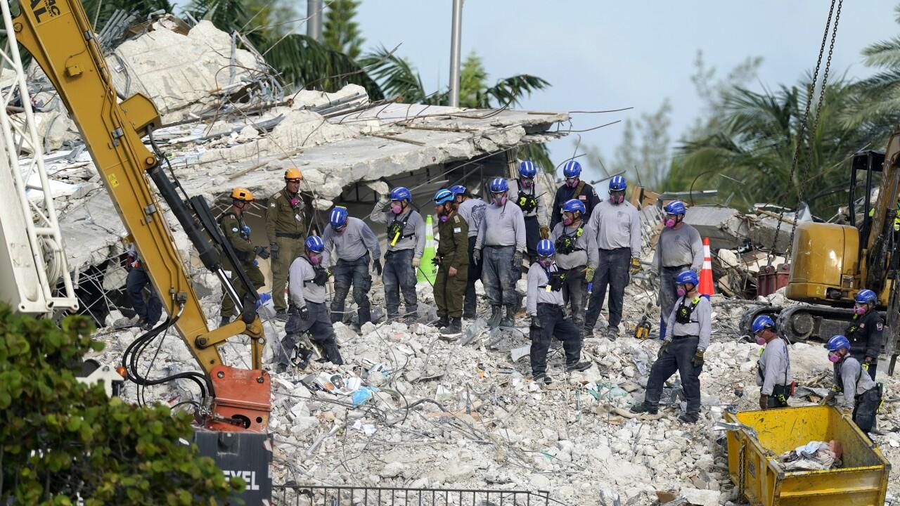 Building Collapse Miami Rubble