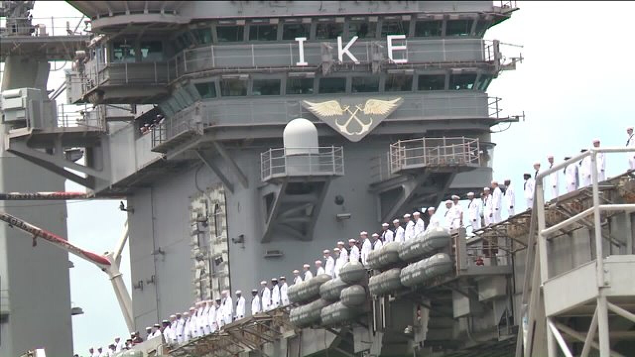 Eight Sailors aboard USS Dwight Eisenhowerinjured
