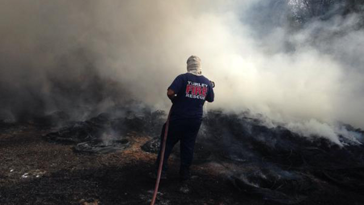 Grass fires erupt around Oklahoma