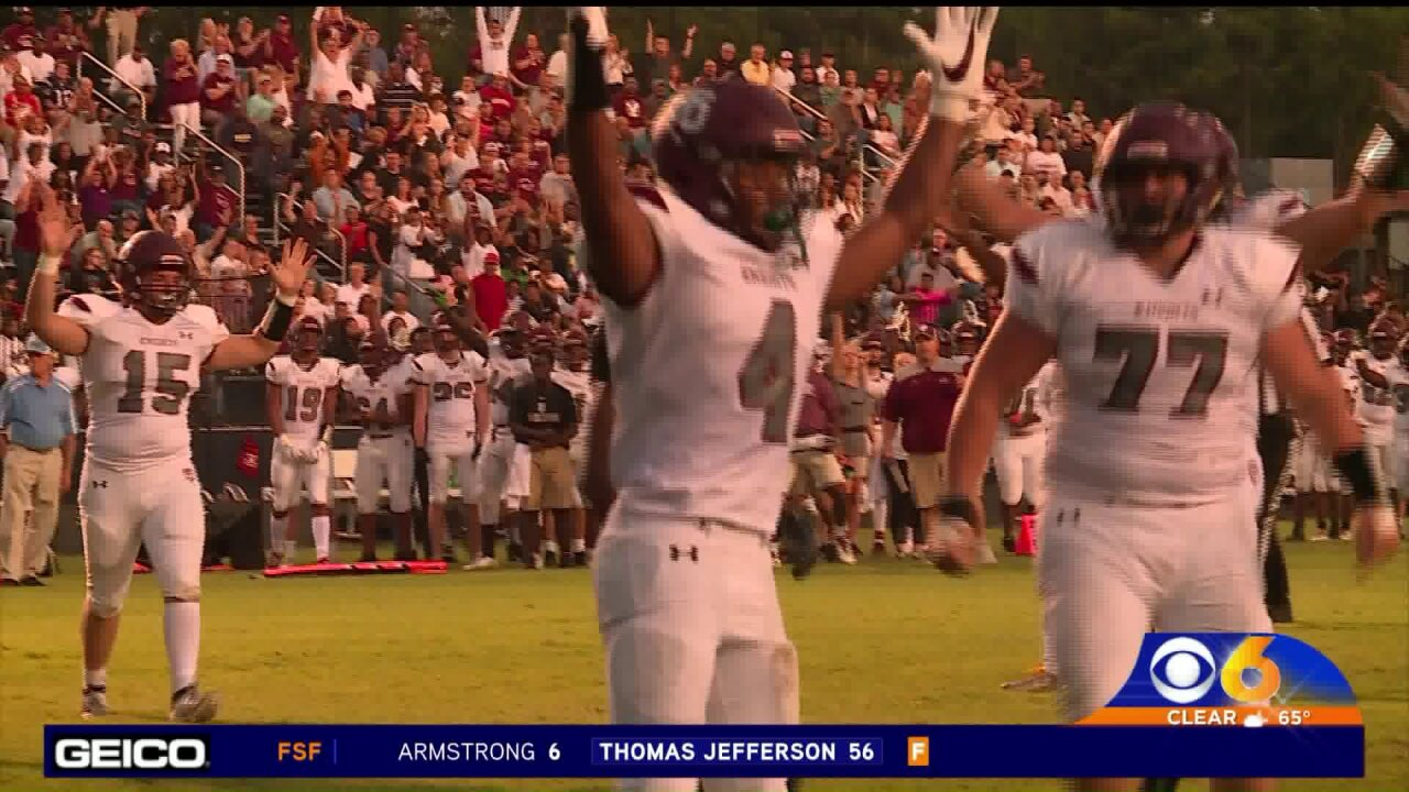 Thomas Dale shuts out L.C. Bird 28-0 in the Battle ofChester