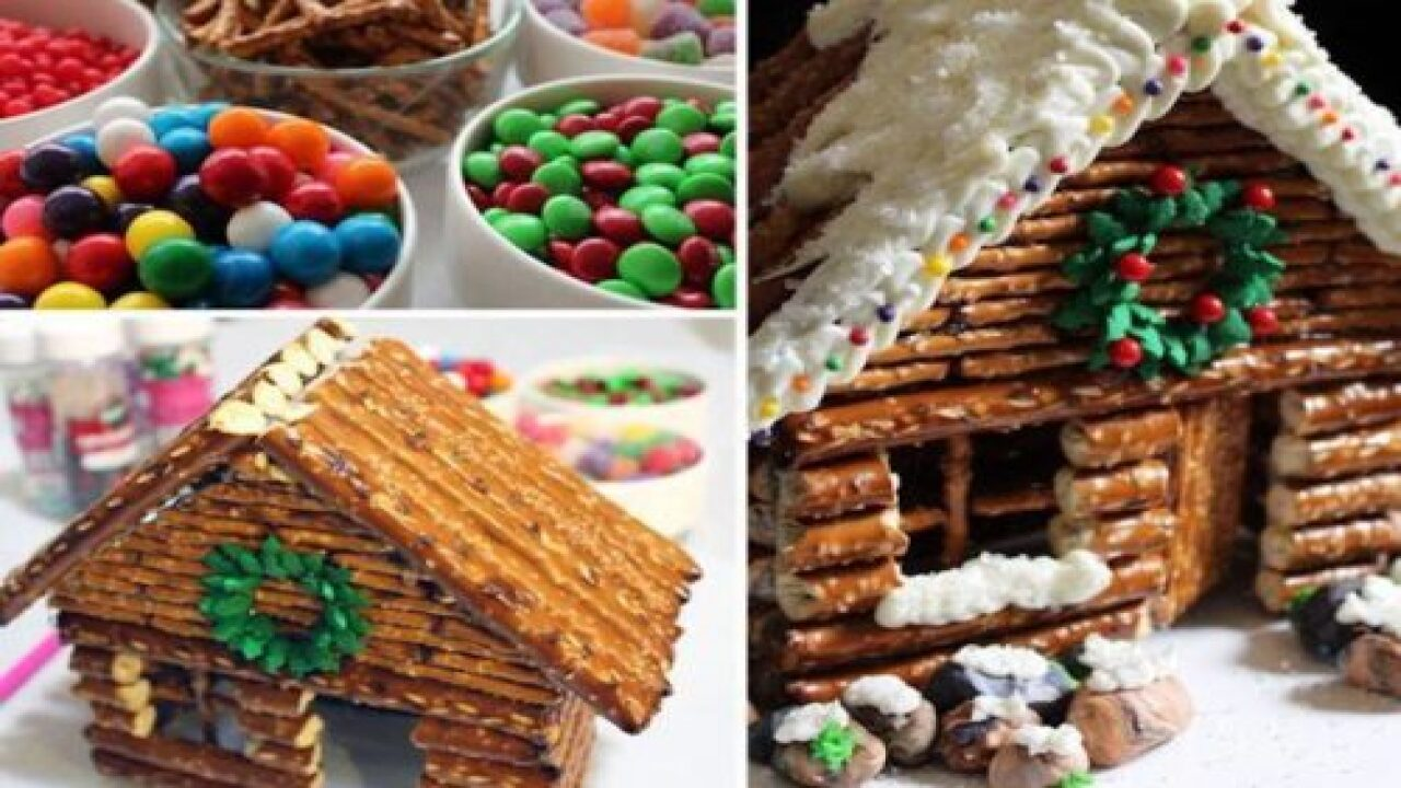 These Pretzel Log Cabins Are A Savory Twist On Gingerbread Houses