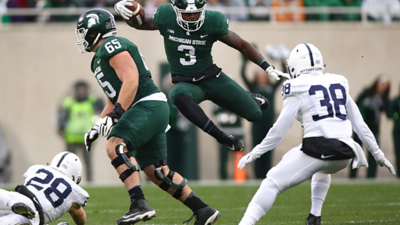 No. 24 Spartans wait out delay, upset No. 7 Penn State 27-24
