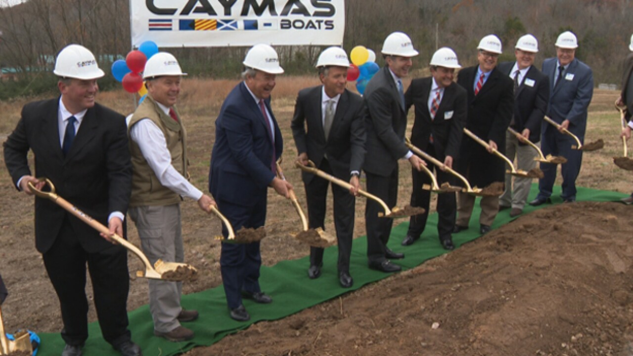 Caymas Boats brings almost 300 jobs to Ashland City