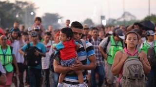 Migrant Caravan Crosses Into Mexico