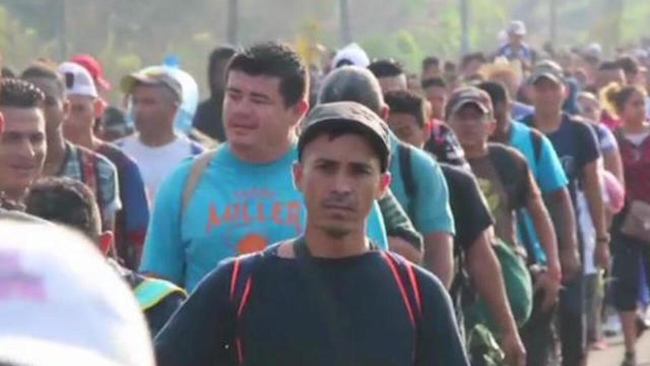 Migrant caravan head towards US-Mexico border