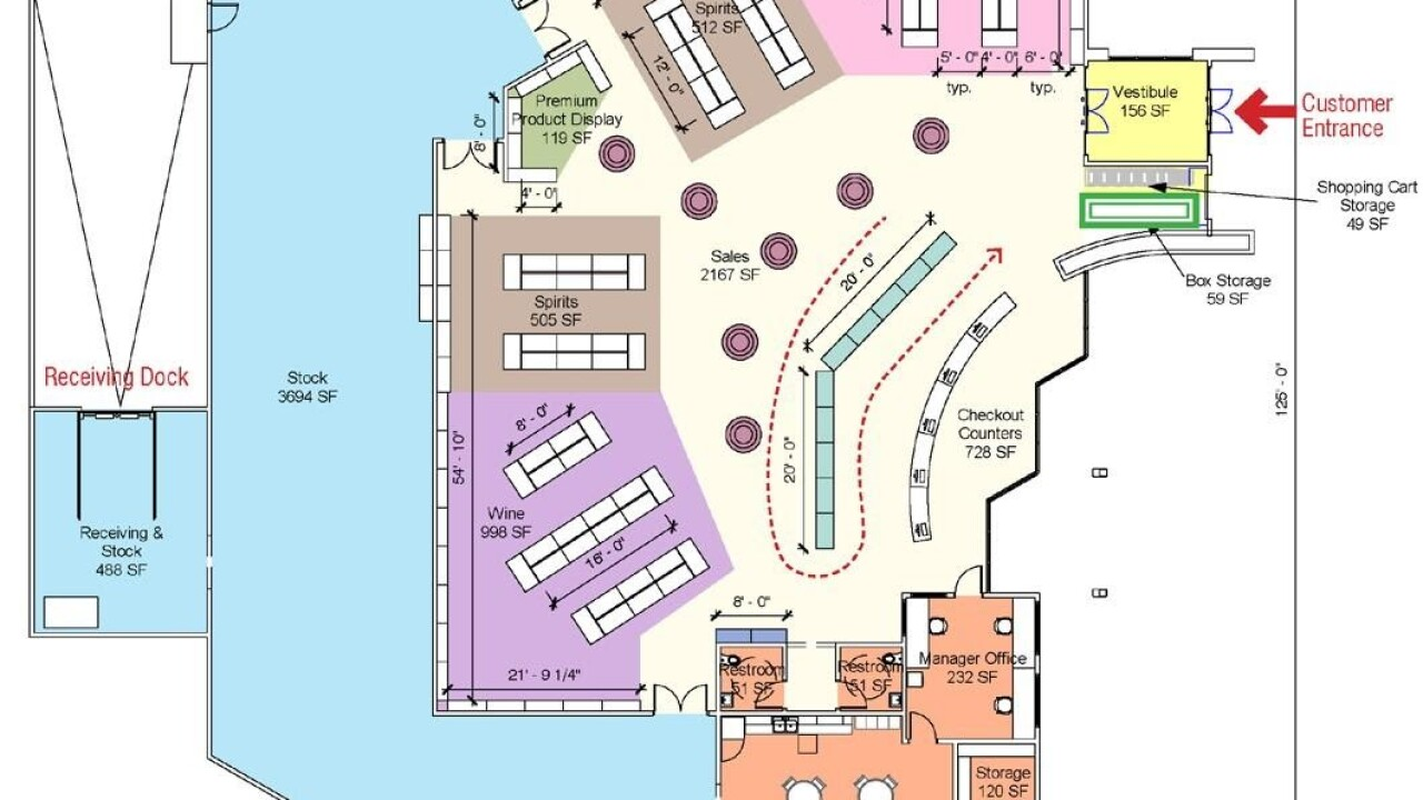 State Liquor and Wine Store in Saratoga Springs - Floor Plan