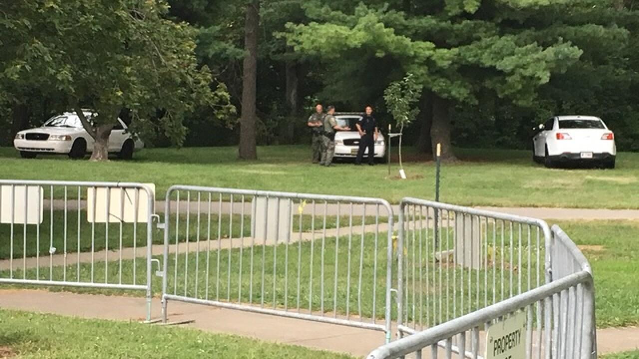 Gate put around Confederate statue at Indy park
