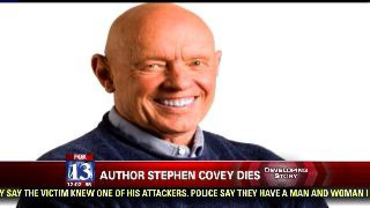 Author, businessman Stephen Covey dies at 79