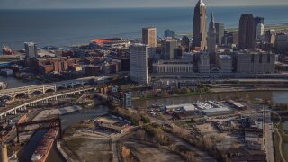 View of downtown Cleveland from AirTracker 5