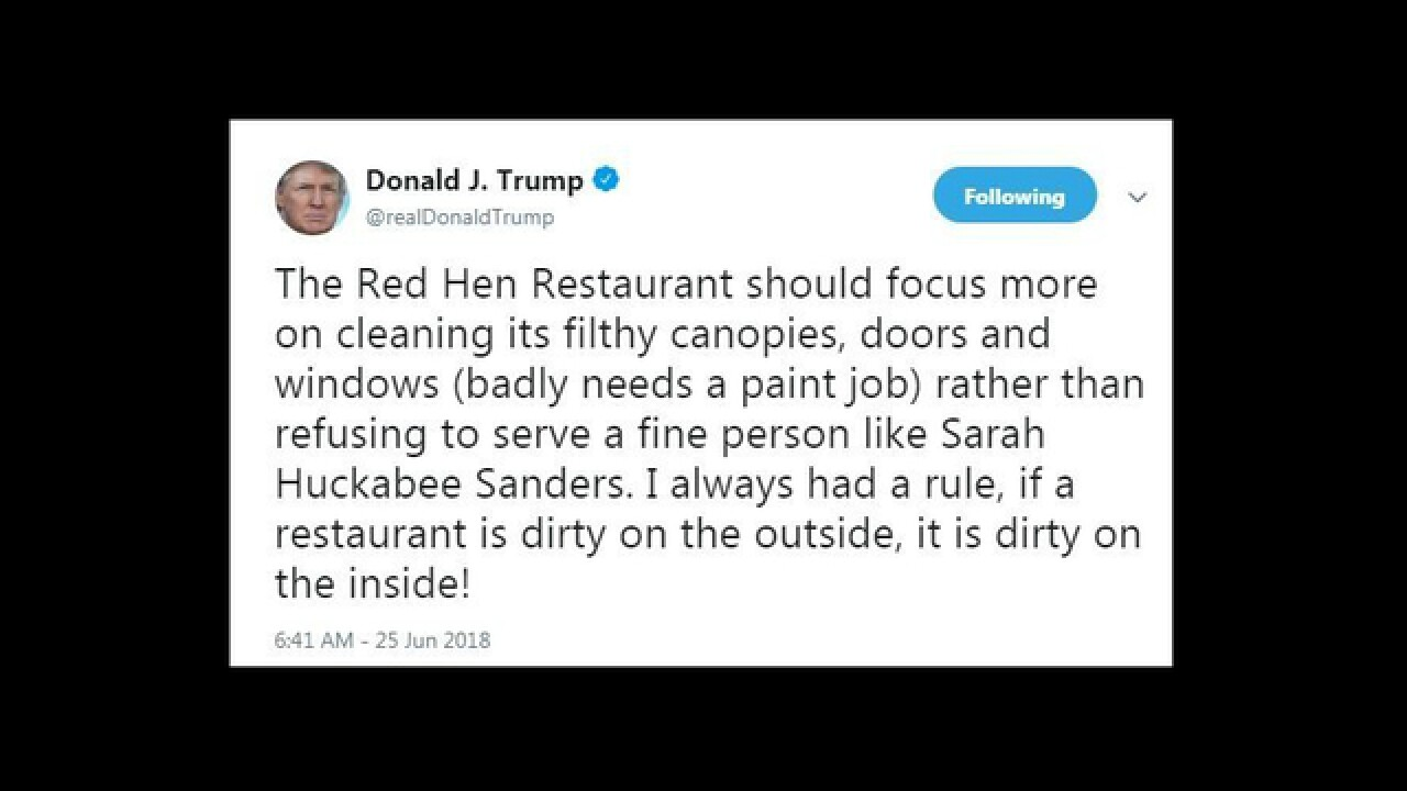 Trump insults restaurant that booted Sarah Sanders