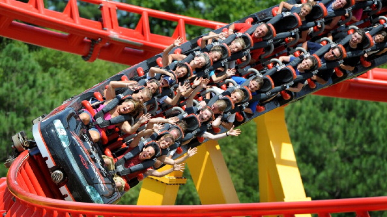 Sleep among roller coasters at this Virginia amusement park