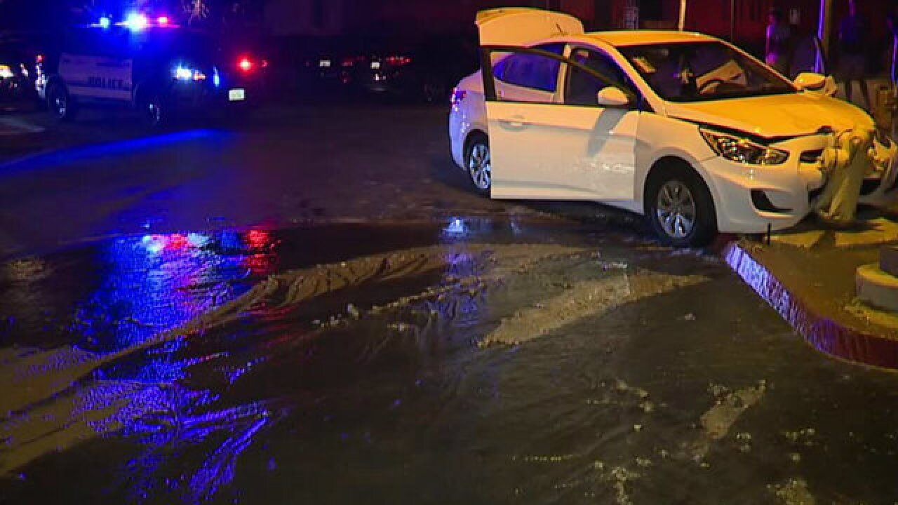 Car crashes into hydrant to end South Bay chase