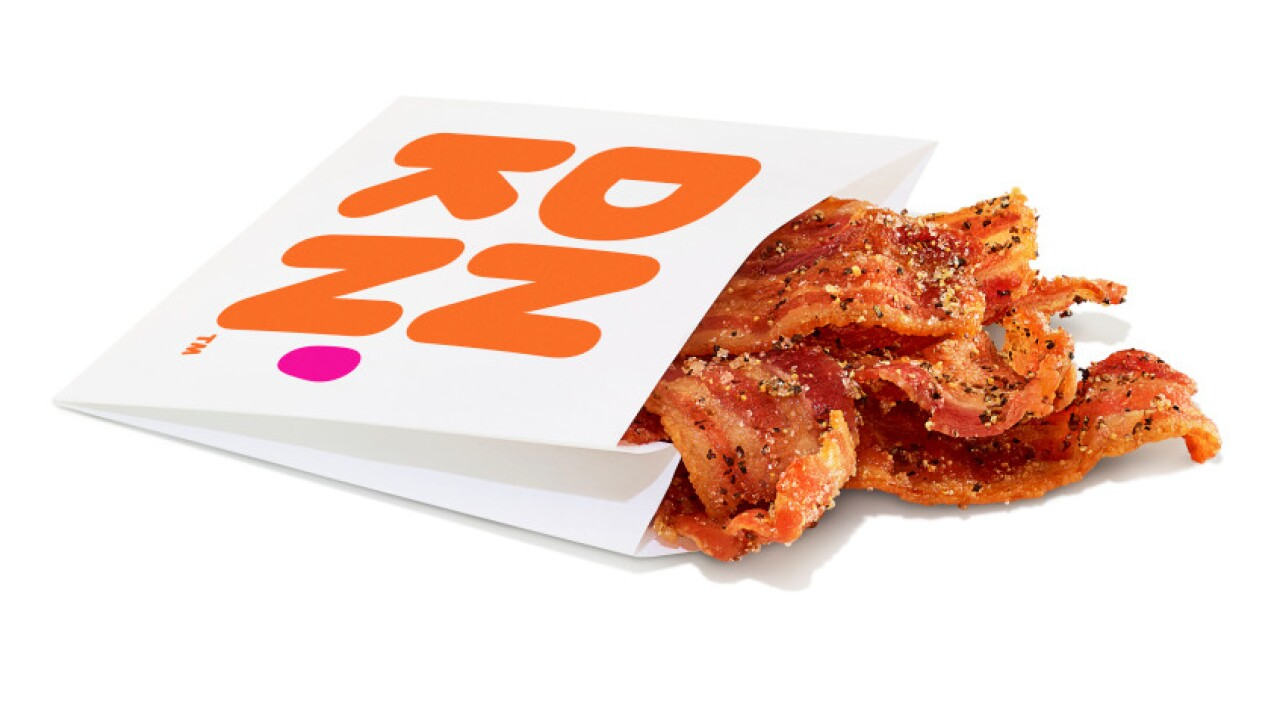 Dunkin's newest menu item is a sleeve of bacon. That's it.