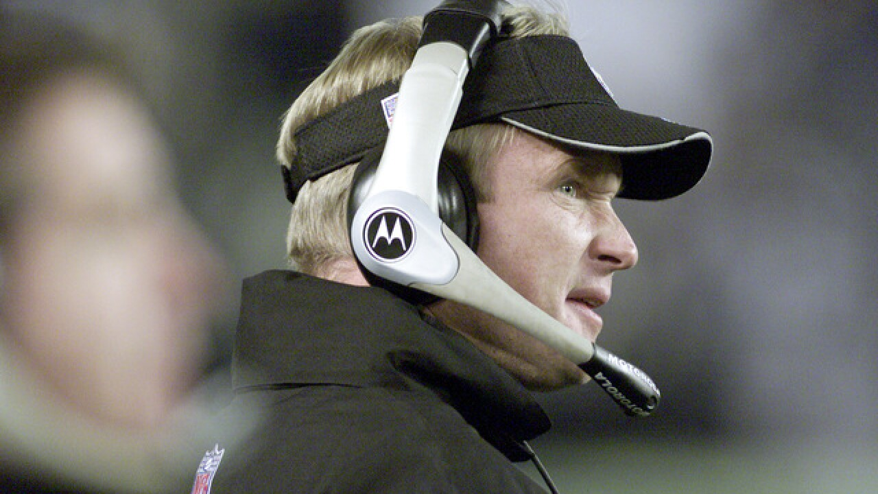Press conference scheduled to introduce Jon Gruden as new Oakland Raiders coach Tuesday