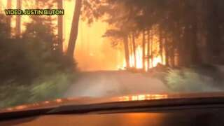 Father and son escape Howe Ridge Fire in Glacier National Park (video)
