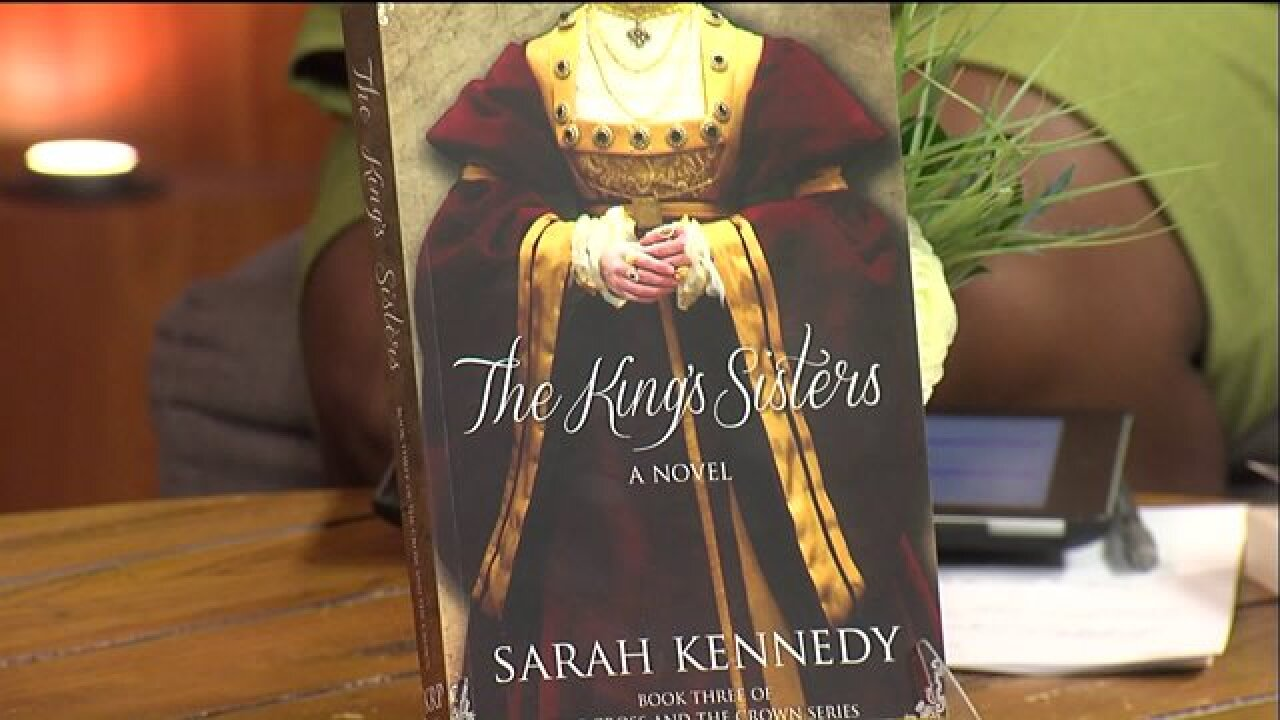 Author Sarah Kennedy introduced her latest project, 'The King'sSisters'
