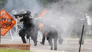 denver police tear gas george floyd