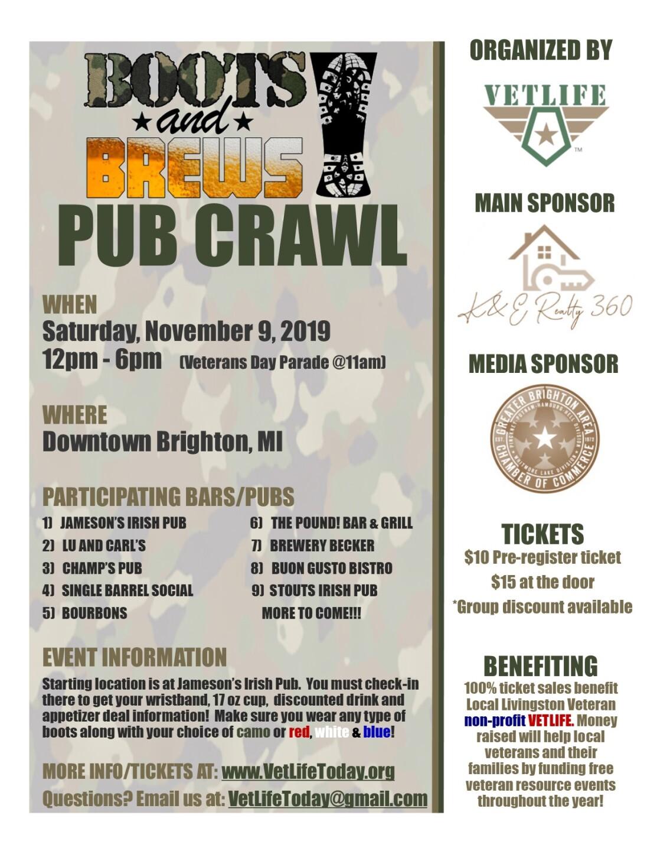 Flyer for Pub Crawl