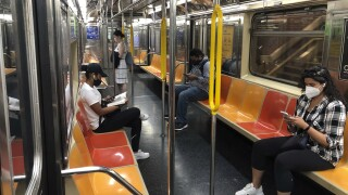 Virus Outbreak New York Subway
