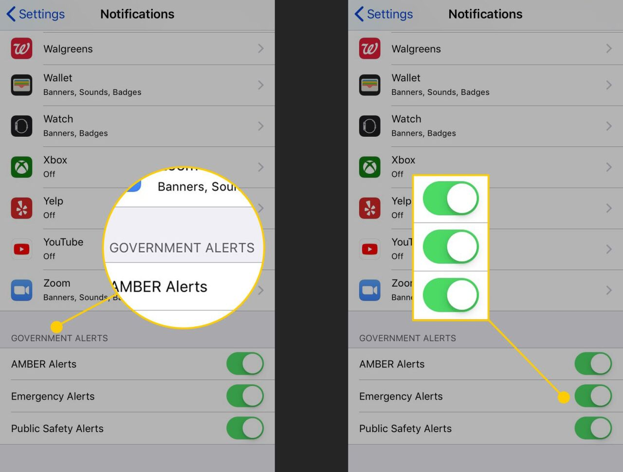 Activating and Deactivating Wireless Emergency Alerts On Apple Device
