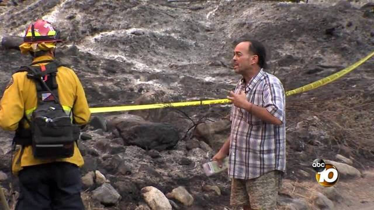 VIDEO: Holy Fire suspect talks with firefighters